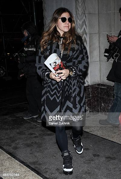 Dani Stahl is seen outside the Oscar de la Renta show on February 17 2015 in New York City
