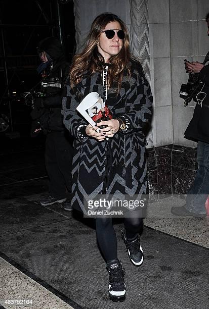 Dani Stahl is seen outside the Oscar de la Renta show on February 17 2015 in New York City