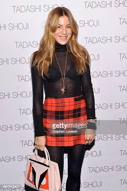 Dani Stahl poses backstage at Tadashi Shoji fashion show during MercedesBenz Fashion Week Fall 2014 at The Salon at Lincoln Center on February 6 2014...