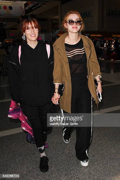 Dani Thorne and Bella Thorne seen at LAX on July 06 2016 in Los Angeles California
