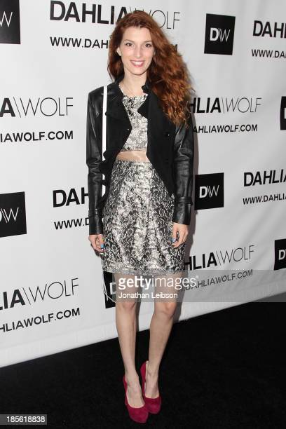 Dani Thorne attends the Dahlia Wolf Launch Party at Graffiti Cafe on October 22 2013 in Los Angeles California