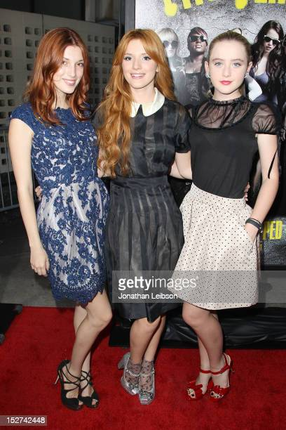 Dani Thorne Bella Thorne and Katherine Newton attend the 'Pitch Perfect' Los Angeles Premiere at ArcLight Hollywood on September 24 2012 in Hollywood...