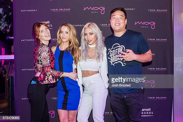 Dani Thorne Taryn Southern Amy Pham and David So attend the 'Freakshow' grand opening celebration at the Moxy New Orleans on July 14 2016 in New...