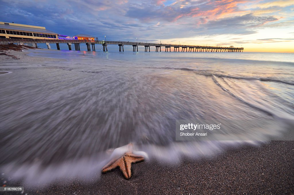 Dania Beach Fishing Pier sunrise, Florida