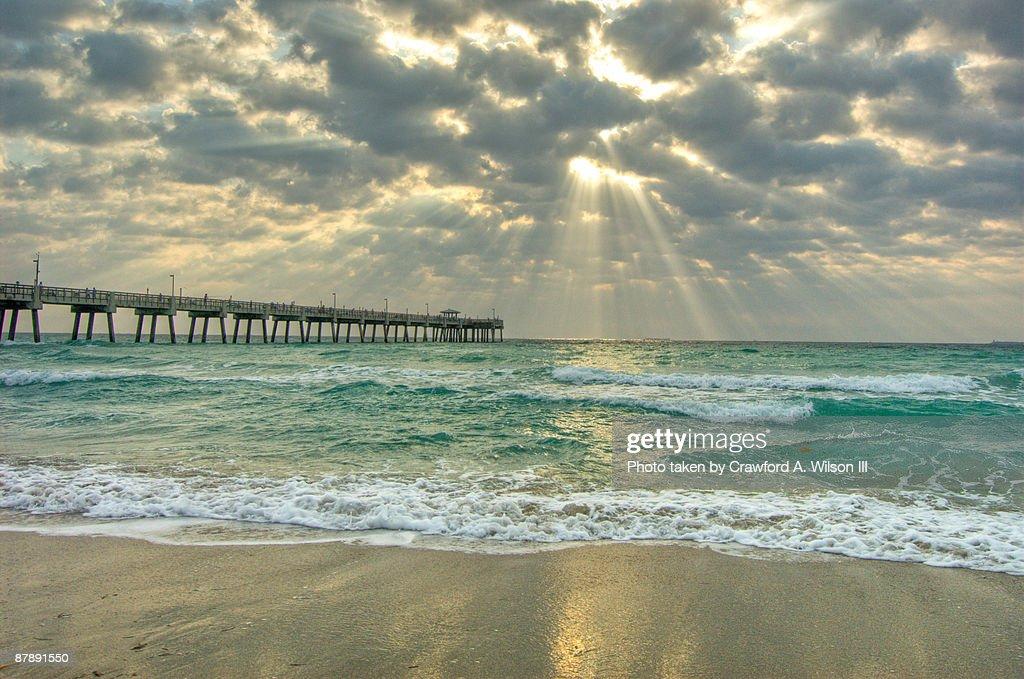 Dania Beach Pier Sunbeams