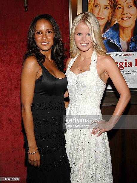 Dania Ramirez and Crystal Hunt during 'Georgia Rule' New York City Premiere Arrivals at Ziegfeld Theatre in New York City New York United States