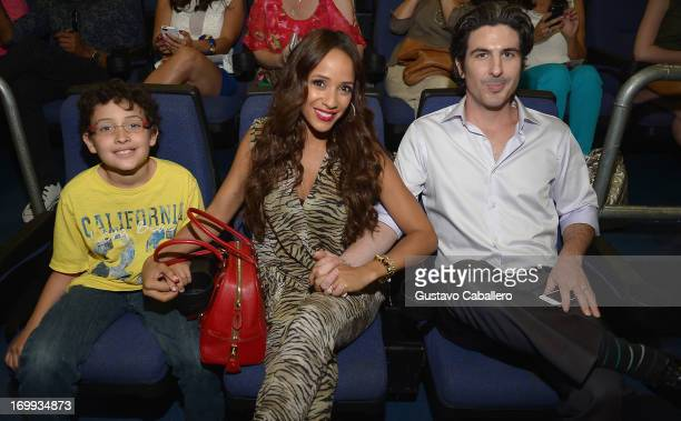 Dania Ramirez and John Beverly Amos Land attends the Lifetime's 'Devious Maids' Miami Screening at Regal Cinemas South Beach Stadium 18 on June 4...