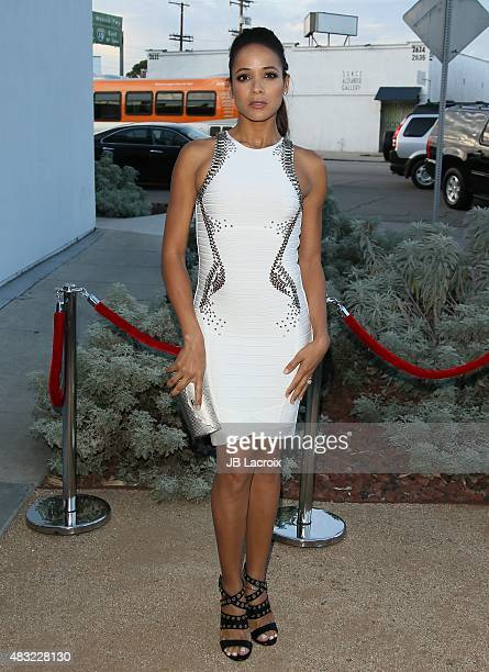 Dania Ramirez attends the BCBG Max Azria Resort 2016 collections at Samuel Freeman Gallery on August 6 2015 in Los Angeles California