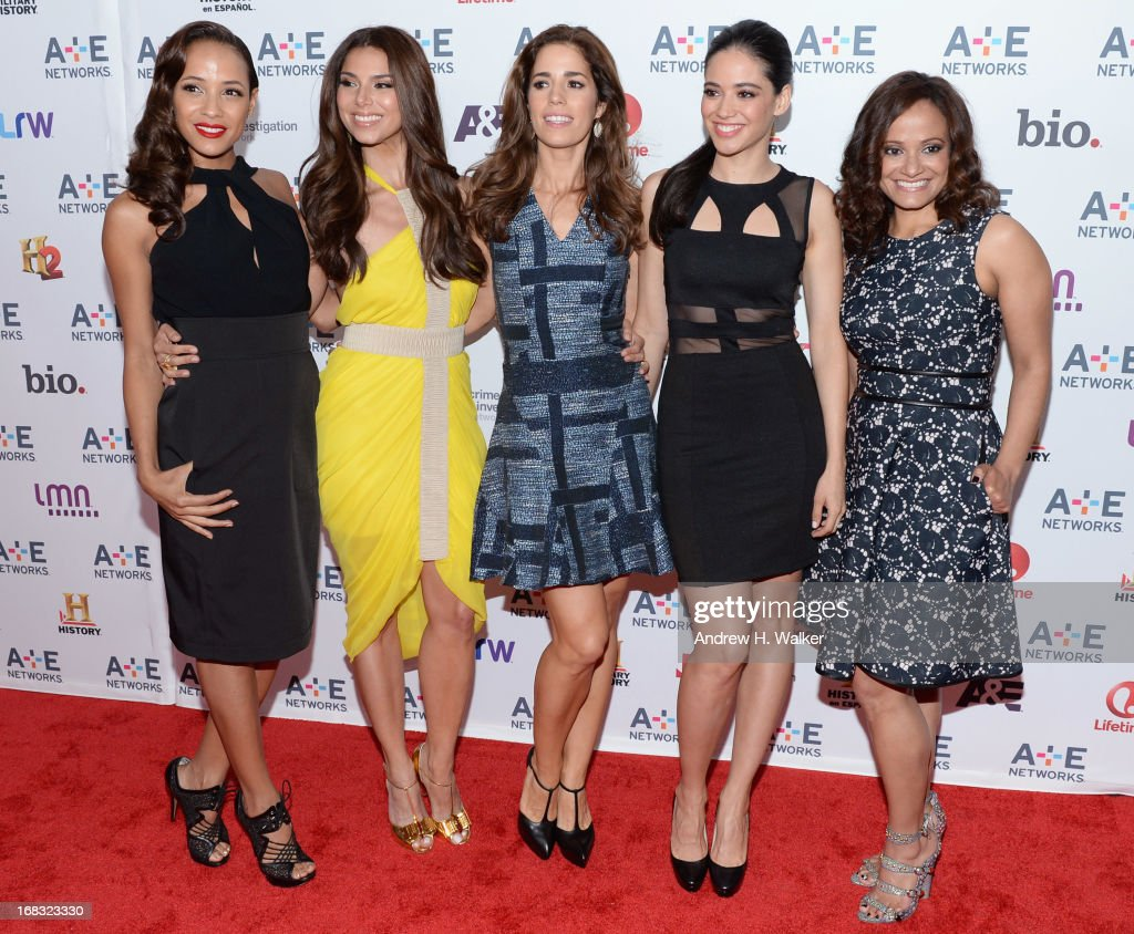 Dania Ramirez, Roselyn Sanchez, Ana Ortiz, Edy Ganem and Judy Reyes attend the A+E Networks 2013 Upfront on May 8, 2013 in New York City.