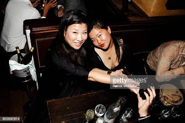 Danica Lo and Joan Ai attend Private Dinner hosted by CARLOS JEREISSATI CEO of IGUATEMI at Pastis on September 6 2008 in New York City