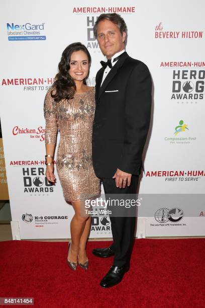 Danica McKellar and Scott Sveslosky at the 7th Annual American Humane Association Hero Dog Awards at The Beverly Hilton Hotel on September 16 2017 in...