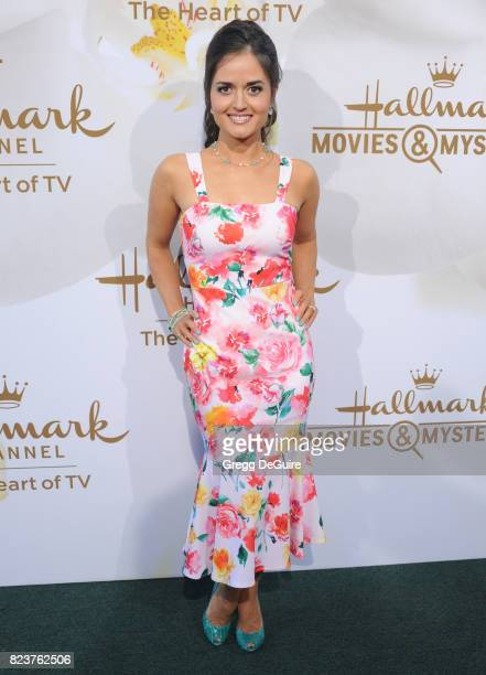 Danica McKellar arrives at the 2017 Summer TCA Tour Hallmark Channel And Hallmark Movies And Mysteries at a private residence on July 27 2017 in...
