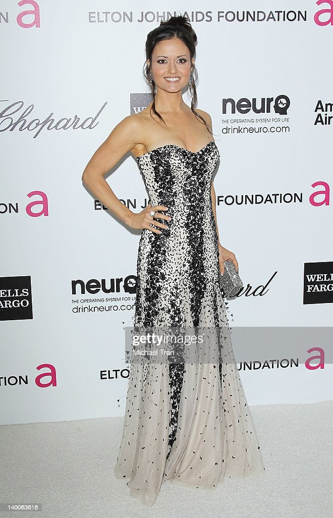 Danica McKellar arrives at the 20th Annual Elton John AIDS Foundation Academy Awards viewing party held across the street from the Pacific Design Center on February 26, 2012 in West Hollywood, California.