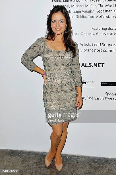 Danica McKellar attends Art For ALS at Arena 1 Gallery at the Santa Monica Art Studios on June 15 2016 in Santa Monica California
