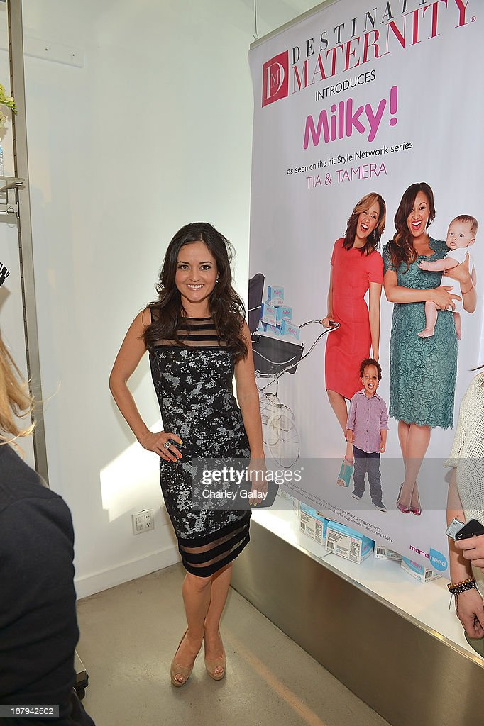 Danica McKellar attends the Milky! launch event at A Pea In The Pod on May 2, 2013 in Beverly Hills, California.