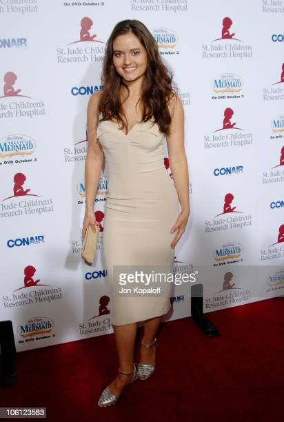 Danica McKellar during Runway For Life Benefiting St Jude Children's Research Hospital Arrivals at Beverly Hilton in Beverly Hills California United...