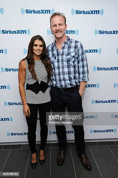 Danica Patrick and Morgan Spurlock visit at SiriusXM Studios on August 7 2014 in New York City