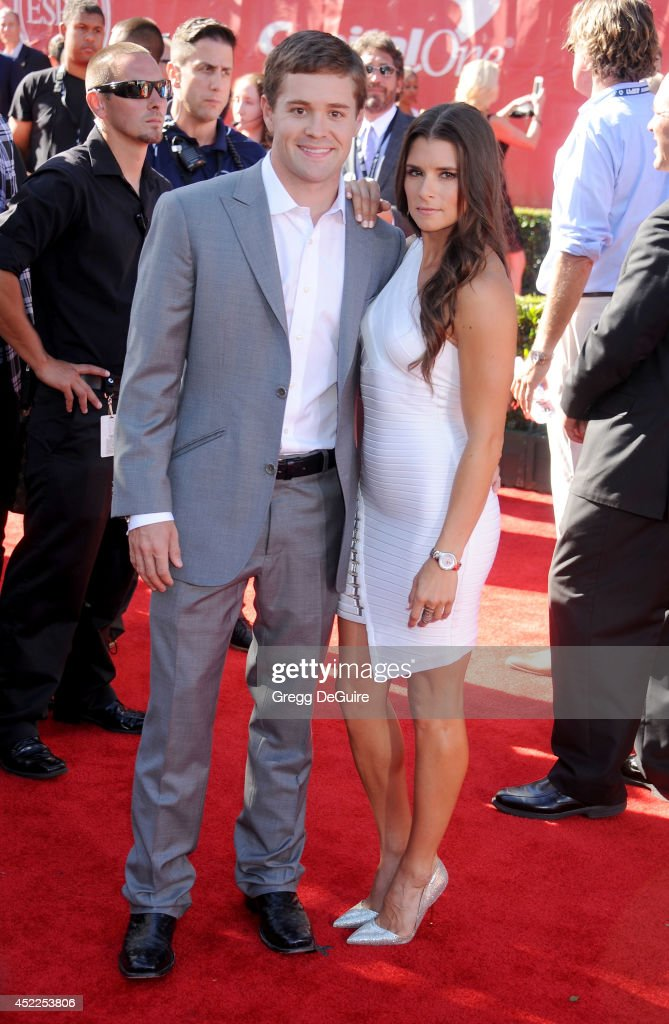 Danica Patrick and Ricky Stenhouse Jr. arrive at the 2014 ESPY Awards at Nokia Theatre L.A. Live on July 16, 2014 in Los Angeles, California.