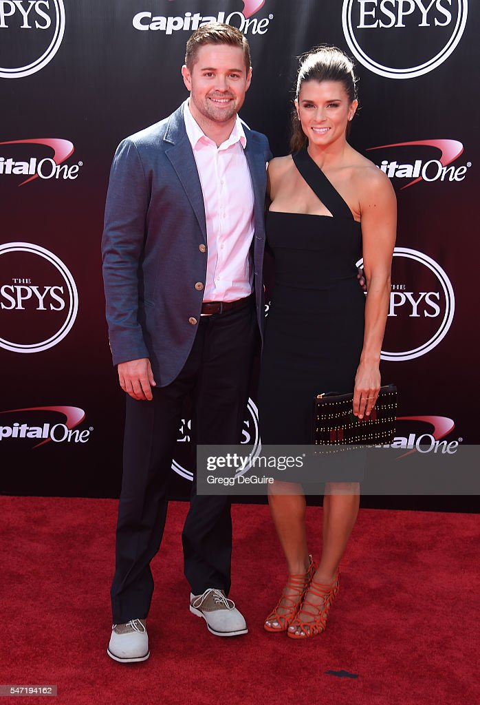 Danica Patrick and Ricky Stenhouse Jr. arrive at The 2016 ESPYS at Microsoft Theater on July 13, 2016 in Los Angeles, California.