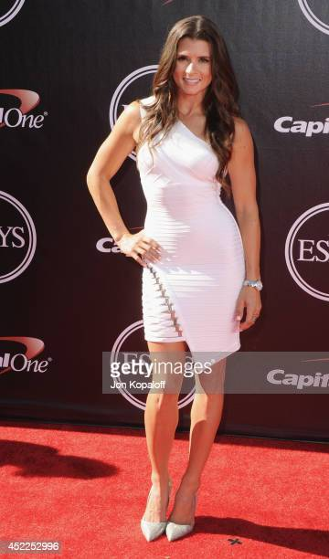 Danica Patrick arrives at the 2014 ESPYS at Nokia Theatre LA Live on July 16 2014 in Los Angeles California