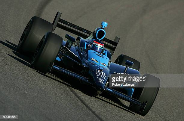 Danica Patrick driver of the Andretti Green Racing Dallara Honda participates in testing for the IndyCar Series at the HomesteadMiami Speedway...