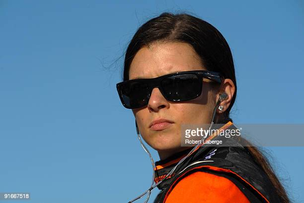 Danica Patrick driver of the Andretti Green Racing Dallara Honda during qualifying for the IndyCar Series Firestone Indy 300 on October 9 2009 at the...