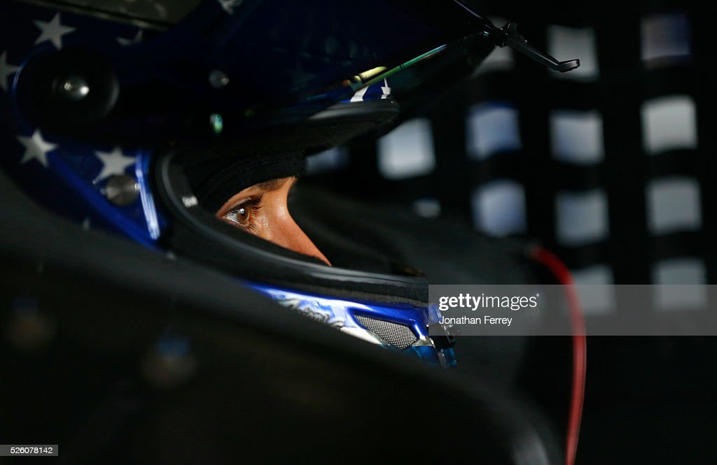 <a gi-track='captionPersonalityLinkClicked' href=/galleries/search?phrase=Danica+Patrick&family=editorial&specificpeople=183352 ng-click='$event.stopPropagation()'>Danica Patrick</a>, driver of the #10 Aspen Dental Chevrolet, sits in her car during practice for the NASCAR Sprint Cup Series GEICO 500 at Talladega Superspeedway on April 29, 2016 in Talladega, Alabama.