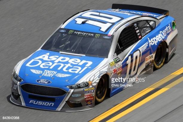 Danica Patrick driver of the Aspen Dental Ford drives during practice for the Monster Energy NASCAR Cup Series 59th Annual DAYTONA 500 at Daytona...