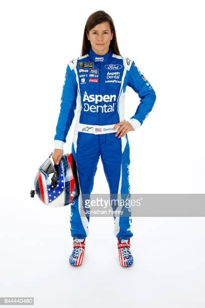 Danica Patrick driver of the Aspen Dental Ford poses for a portrait at Daytona International Speedway on February 23 2017 in Daytona Beach Florida