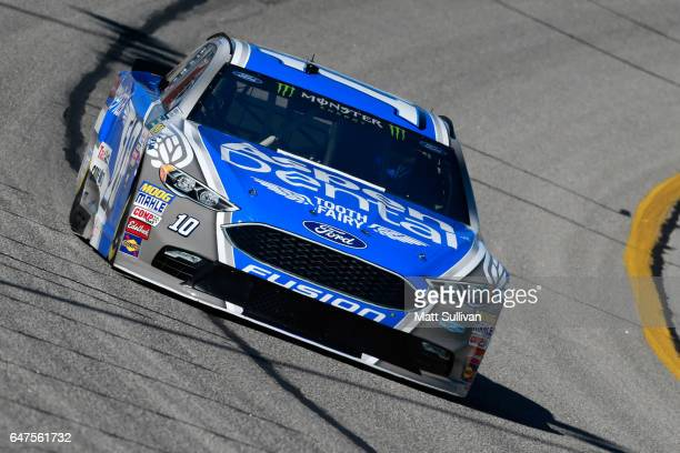 Danica Patrick driver of the Aspen Dental Ford practices for the Monster Energy NASCAR Cup Series Folds of Honor QuickTrip 500 at Atlanta Motor...