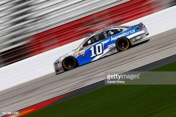 Danica Patrick driver of the Aspen Dental Ford practices for the Monster Energy NASCAR Cup Series Folds of Honor QuikTrip 500 at Atlanta Motor...