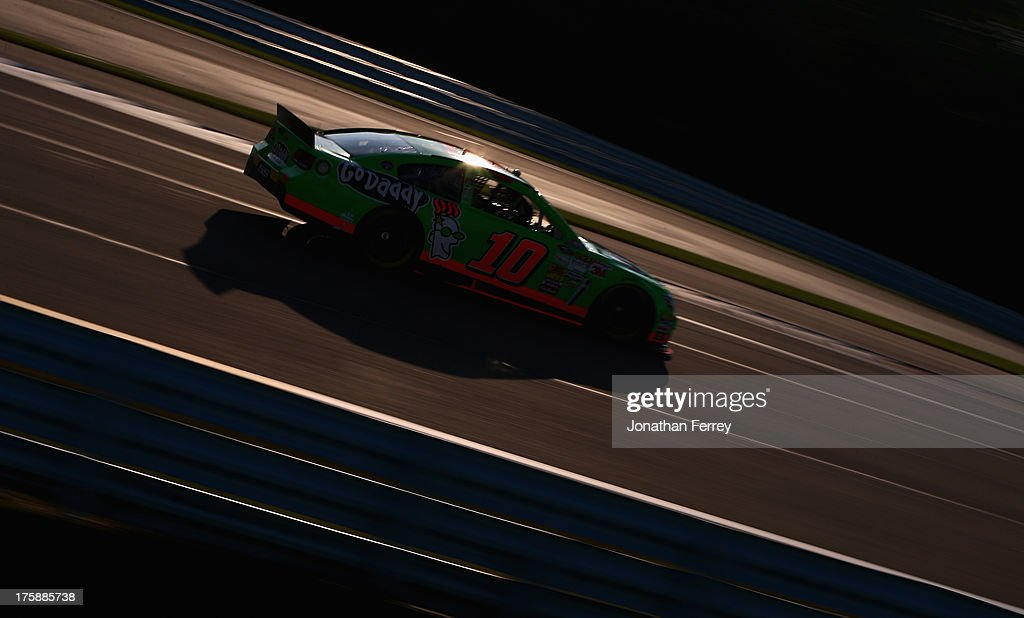 <a gi-track='captionPersonalityLinkClicked' href=/galleries/search?phrase=Danica+Patrick&family=editorial&specificpeople=183352 ng-click='$event.stopPropagation()'>Danica Patrick</a>, driver of the #10 GoDaddy Chevrolet, drives during practice for the NASCAR Sprint Cup Series Cheez-It 355 at Watkins Glen International on August 9, 2013 in Watkins Glen, New York.