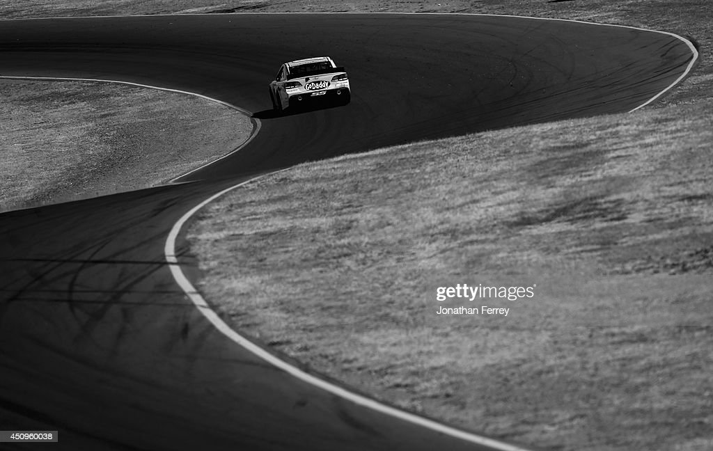 Danica Patrick, driver of the #10 GoDaddy Chevrolet, drives during practice for the NASCAR Sprint Cup Series Toyota/Save Mart 350 at Sonoma Raceway on June 20, 2014 in Sonoma, California.