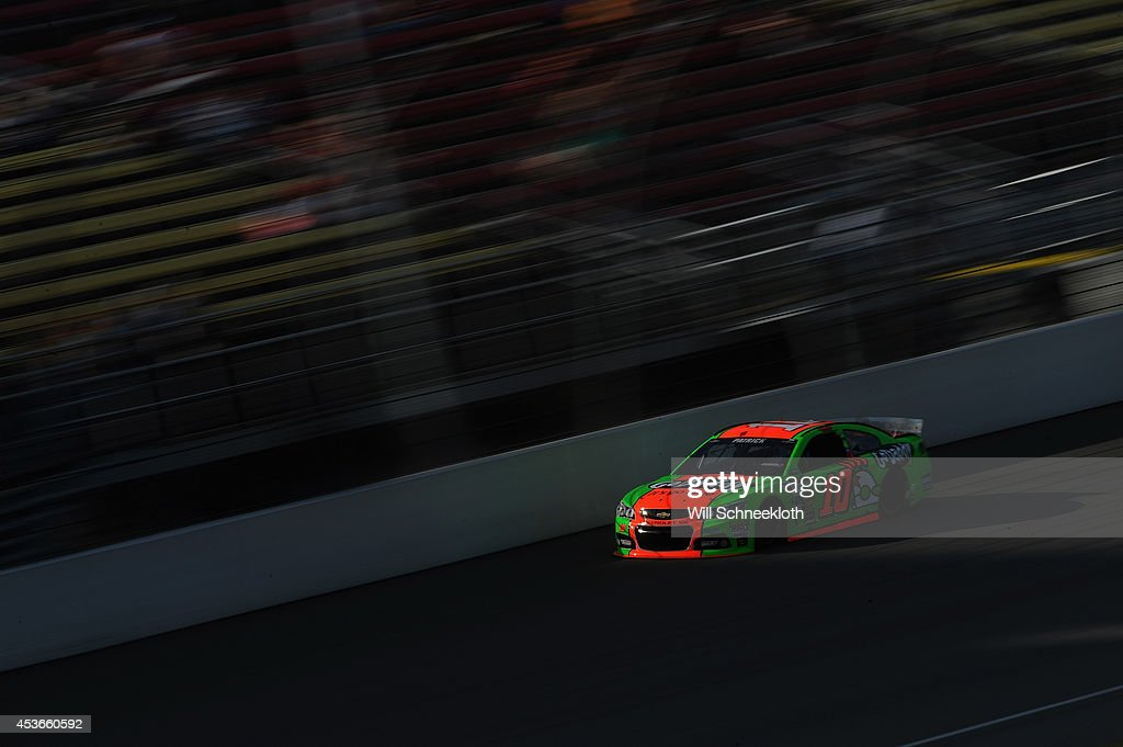 <a gi-track='captionPersonalityLinkClicked' href=/galleries/search?phrase=Danica+Patrick&family=editorial&specificpeople=183352 ng-click='$event.stopPropagation()'>Danica Patrick</a>, driver of the #10 GoDaddy Chevrolet, during qualifying for the NASCAR Sprint Cup Series Pure Michigan 400 at Michigan International Speedway on August 15, 2014 in Brooklyn, Michigan.
