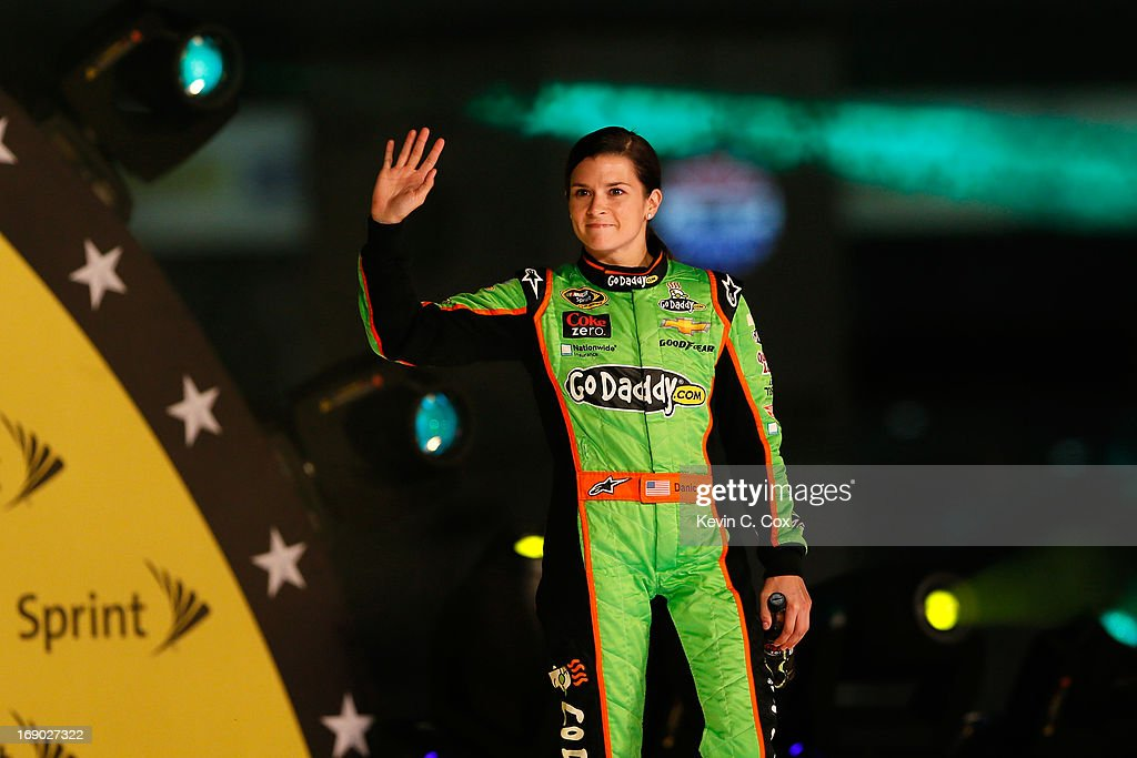 Danica Patrick, driver of the #10 GoDaddy Chevrolet, is introduced during pre-race ceremonies for the NASCAR Sprint Cup Series All-Star race at Charlotte Motor Speedway on May 18, 2013 in Concord, North Carolina.