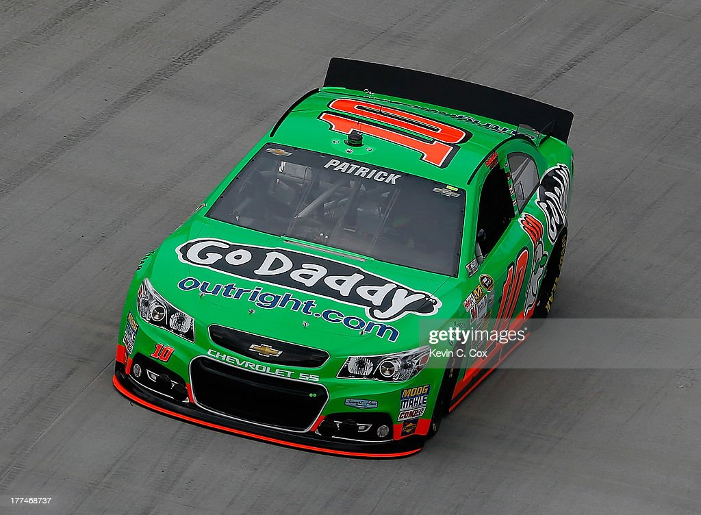 Danica Patrick, driver of the #10 GoDaddy Chevrolet, practices for the NASCAR Sprint Cup Series IRWIN Tools Night Race at Bristol Motor Speedway on August 23, 2013 in Bristol, Tennessee.