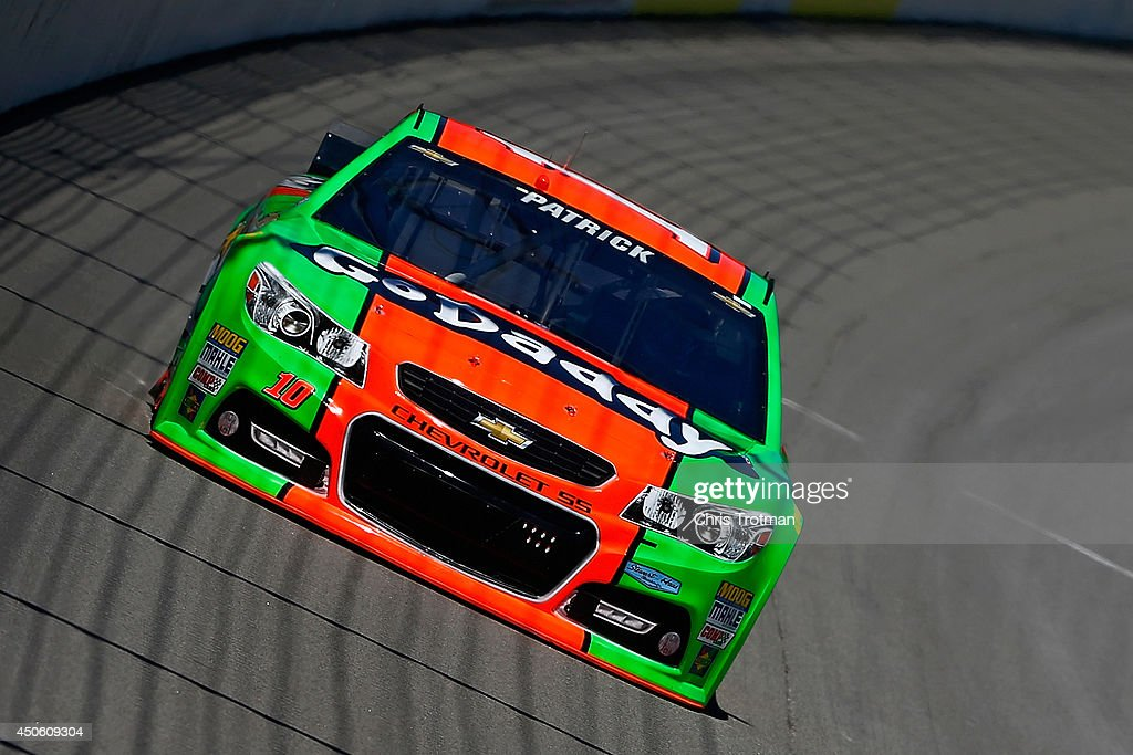 Danica Patrick, driver of the #10 GoDaddy Chevrolet, practices for the NASCAR Sprint Cup Series Quicken Loans 400 at Michigan International Speedway on June 14, 2014 in Brooklyn, Michigan.