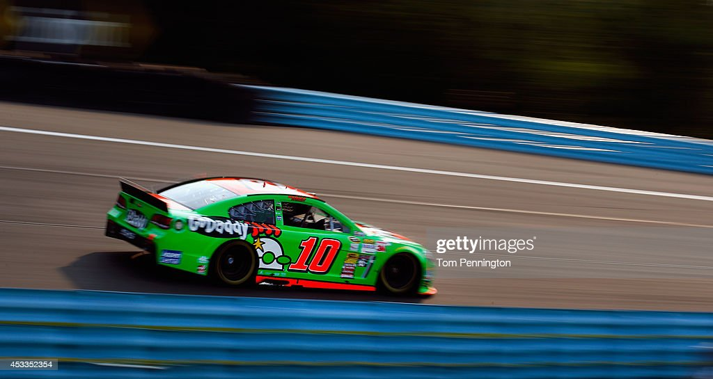 <a gi-track='captionPersonalityLinkClicked' href=/galleries/search?phrase=Danica+Patrick&family=editorial&specificpeople=183352 ng-click='$event.stopPropagation()'>Danica Patrick</a>, driver of the #10 GoDaddy Chevrolet, practices for the NASCAR Sprint Cup Series Cheez-It 355 at Watkins Glen International on August 8, 2014 in Watkins Glen, New York.