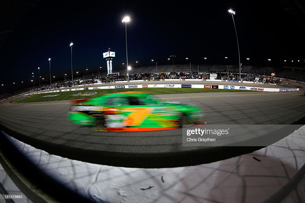 <a gi-track='captionPersonalityLinkClicked' href=/galleries/search?phrase=Danica+Patrick&family=editorial&specificpeople=183352 ng-click='$event.stopPropagation()'>Danica Patrick</a>, driver of the #7 GoDaddy.com Chevrolet, drives during the NASCAR Nationwide Series Virginia 529 College Savings 250 at Richmond International Raceway on September 7, 2012 in Richmond, Virginia.