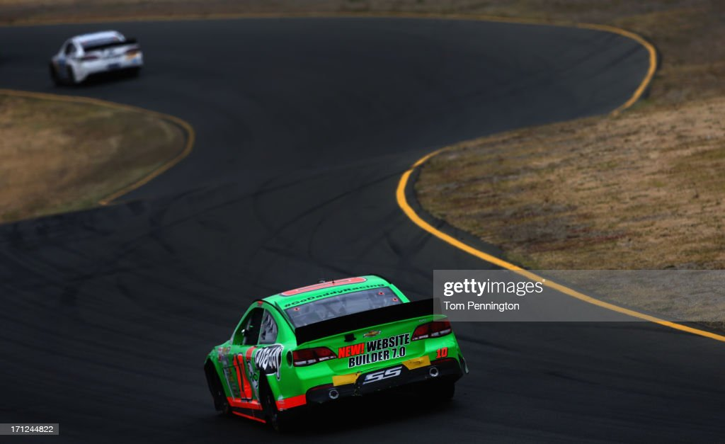 Danica Patrick, driver of the #10 GoDaddy.com Chevrolet, drives during the NASCAR Sprint Cup Series Toyota/Save Mart 350 at Sonoma Raceway on June 23, 2013 in Sonoma, California.