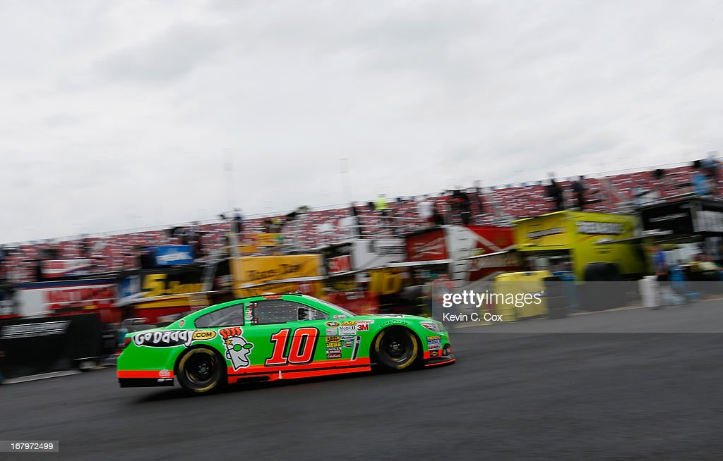 Danica Patrick, driver of the #10 GoDaddy.com Chevrolet, drives through the garage area during practice for the NASCAR Sprint Cup Series Aaron's 499 at Talladega Superspeedway on May 3, 2013 in Talladega, Alabama.