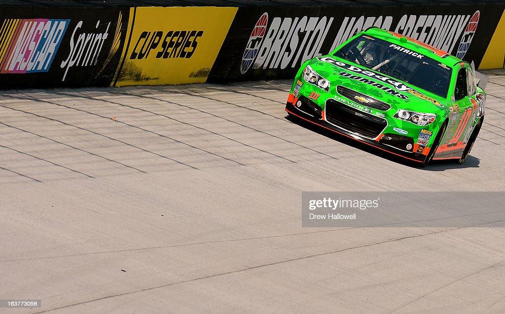 <a gi-track='captionPersonalityLinkClicked' href=/galleries/search?phrase=Danica+Patrick&family=editorial&specificpeople=183352 ng-click='$event.stopPropagation()'>Danica Patrick</a>, driver of the #10 GoDaddy.com Chevrolet, practices for the NASCAR Sprint Cup Series Food City 500 at Bristol Motor Speedway on March 15, 2013 in Bristol, Tennessee.
