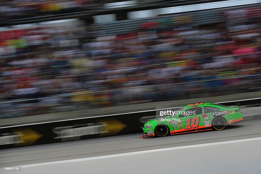 Danica Patrick, driver of the #10 GoDaddy.com Chevrolet, races during the NASCAR Sprint Cup Series Bojangles' Southern 500 at Darlington Raceway on May 11, 2013 in Darlington, South Carolina.