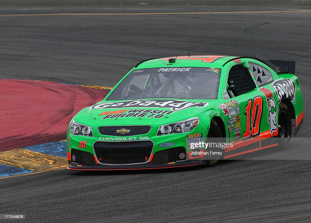 Danica Patrick, driver of the #10 GoDaddy.com Chevrolet, races during the NASCAR Sprint Cup Series Toyota/Save Mart 350 at Sonoma Raceway on June 23, 2013 in Sonoma, California.