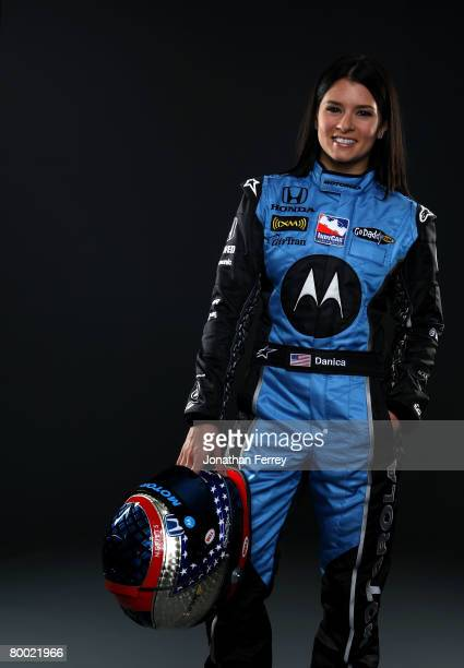 Danica Patrick driver of the Motorola Andretti Green Racing Dallara Honda poses for a portrait during Spring Testing for the IRL IndyCar Series on...