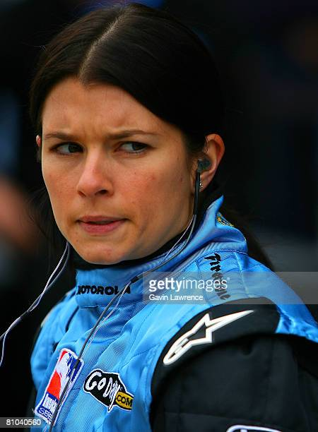 Danica Patrick driver of the Motorola Andretti Green Racing Dallara Honda during practice for the IRL IndyCar Series 92nd running of the Indianapolis...
