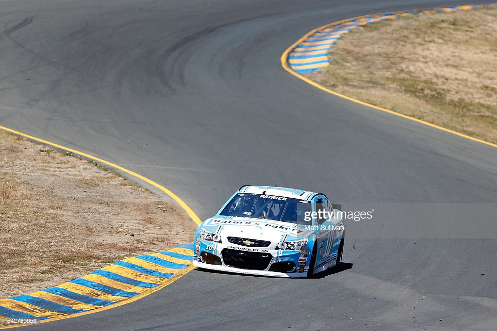 <a gi-track='captionPersonalityLinkClicked' href=/galleries/search?phrase=Danica+Patrick&family=editorial&specificpeople=183352 ng-click='$event.stopPropagation()'>Danica Patrick</a>, driver of the #10 Nature's Bakery Chevrolet, drives during practice for the NASCAR Sprint Cup Series Toyota/Save Mart 350 at Sonoma Raceway on June 24, 2016 in Sonoma, California.