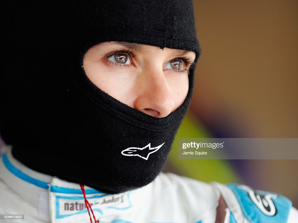 Danica Patrick, driver of the #10 Nature's Bakery Chevrolet, looks on during practice for the NASCAR Sprint Cup Series Go Bowling 400 at Kansas Speedway on May 6, 2016 in Kansas City, Kansas.