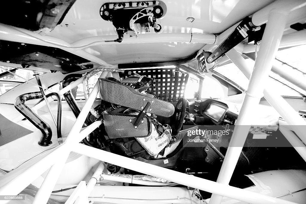 Danica Patrick, driver of the #10 Nature's Bakery Chevrolet, sits in her car during practice for the NASCAR Sprint Cup Series Can-Am 500 at Phoenix International Raceway on November 12, 2016 in Avondale, Arizona.