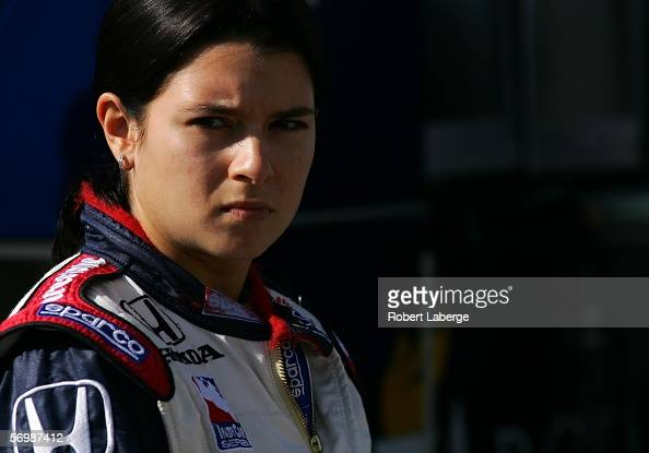 Danica Patrick driver of the Rahal Letterman Racing Honda Panoz gets ready for testing for the IRL Indycar Series on March 3 2006 at the...